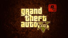 Grand Theft Auto V &#8211; Logo On Brown Background